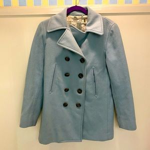 J. Crew Blue Wool Insulated Peacoat Size Small